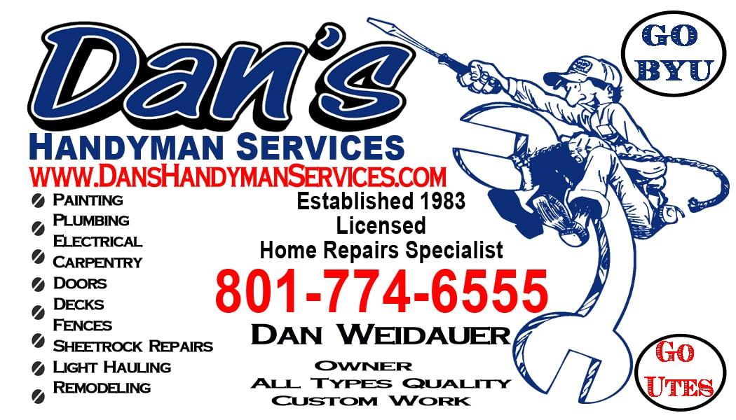 Home Repair Services Layton Utah Dan S Handyman Services