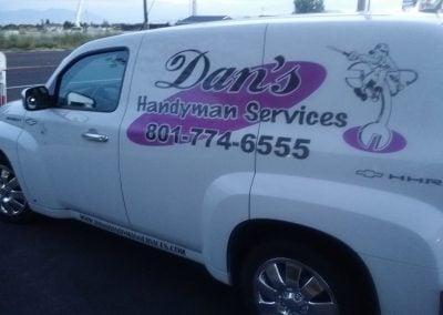 Dans Handyman Services vehicle